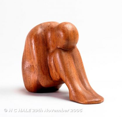 Seated figure - Sculpture by Kenneth Padley